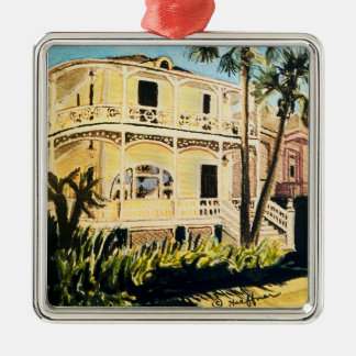 Galveston Watercolor, 1899 Conness-Arnold House Christmas Ornament