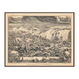 Galveston's Awful Calamity Gulf Tidal Wave (1900) Stretched Canvas Print