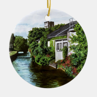 Galway City Ireland Impressionistic Watercolor Pai Christmas Ornament