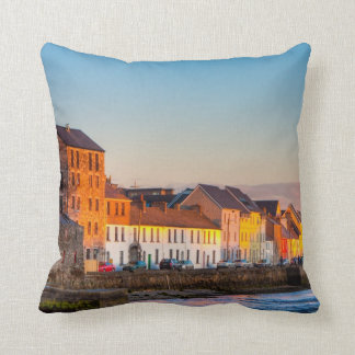 Galway's Waterfront At Sunset - Western Ireland Cushion