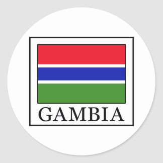 Gambia Classic Round Sticker