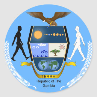 Gambia Coat of arms GM Round Sticker