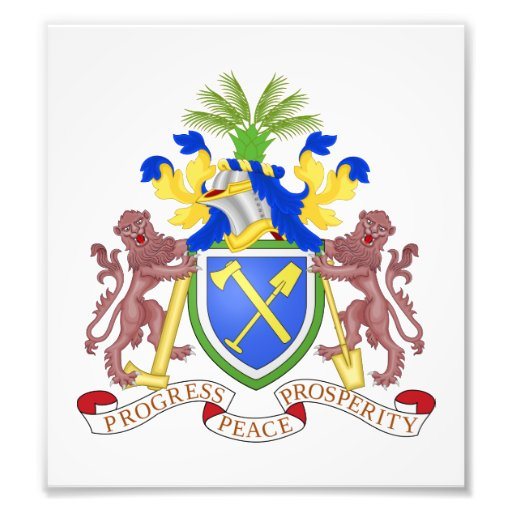 Gambia Coat Of Arms Photo Print
