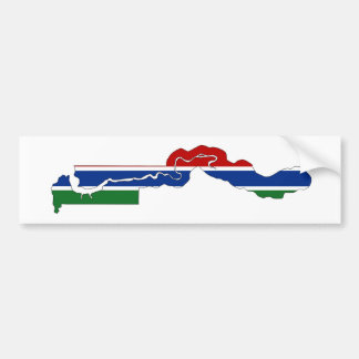 gambia country flag map shape silhouette bumper sticker