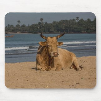 Gambia Cow Mouse Pad
