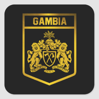 Gambia Emblem Square Sticker