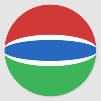 Gambia Fisheye Flag Sticker