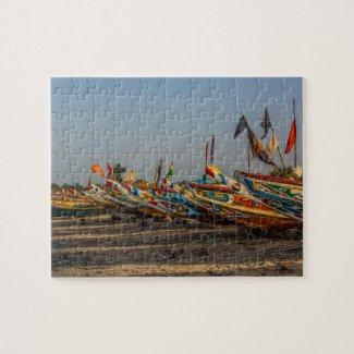 Gambia Fishing Boats Jigsaw Jigsaw Puzzle