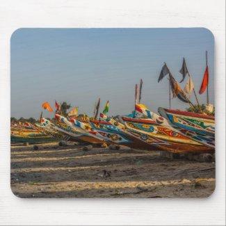 Gambia Fishing Boats Mouse Pad
