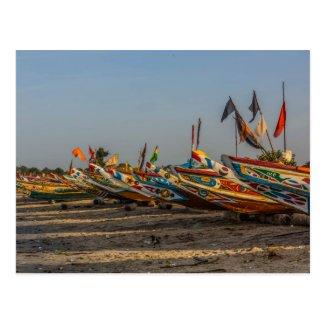 Gambia Fishing Boats Postcard