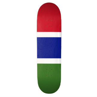 Gambia Flag 18.1 Cm Old School Skateboard Deck