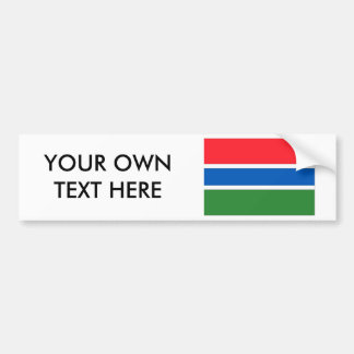 Gambia Flag Bumper Sticker