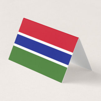 Gambia Flag Business Card
