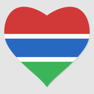 Gambia Flag Heart Sticker