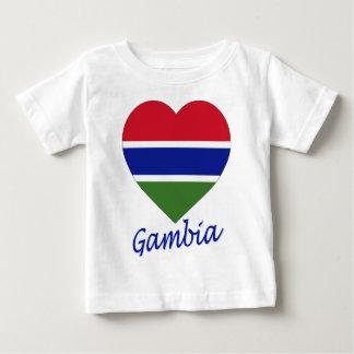 Gambia Flag Heart Tshirts
