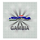 Gambia Flag Map 2.0 Poster