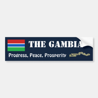 Gambia Flag + Map Bumper Sticker