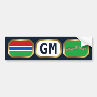 Gambia Flag Map Code Bumper Sticker