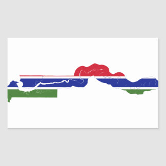 Gambia Flag Map GM Rectangular Sticker