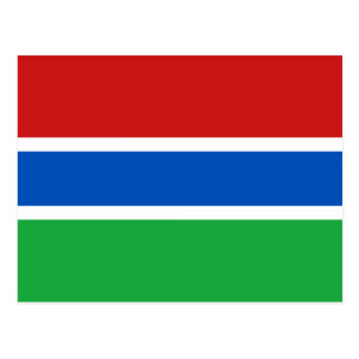 Gambia Flag Postcard