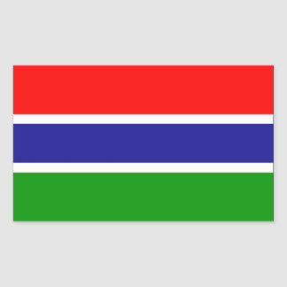 Gambia Flag Rectangular Sticker