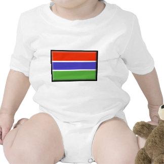Gambia Flag Bodysuit