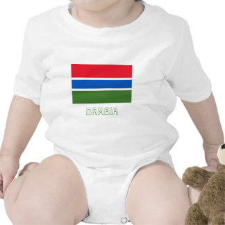 Gambia Flag with Name T Shirts