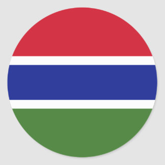 Gambia GM Classic Round Sticker
