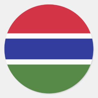 Gambia GM Round Sticker