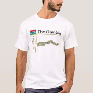 Gambia Map + Flag + Title T-Shirt