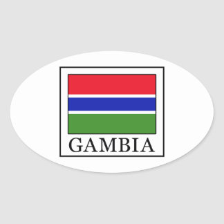 Gambia Oval Sticker