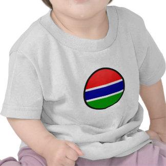 Gambia quality Flag Circle Shirt