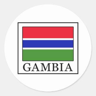Gambia Round Sticker