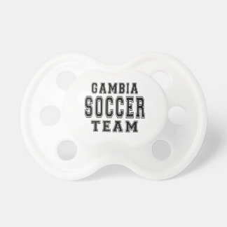 Gambia Soccer Team Pacifiers