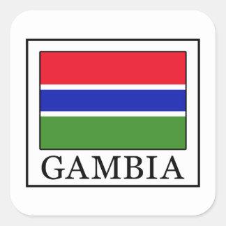 Gambia Square Sticker