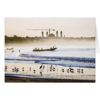 Gambia Sunrise Greeting Card