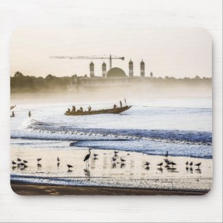 Gambia Sunrise Mouse Pad