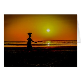 Gambia Sunset Greeting Card