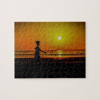 Gambia Sunset Jigsaw Jigsaw Puzzle