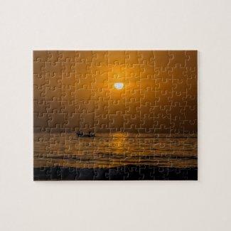 Gambia Sunset Jigsaw Puzzle