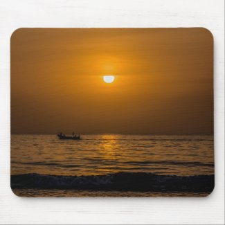 Gambia Sunset Mouse Pad