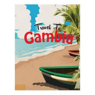 Gambia vintage travel poster postcard