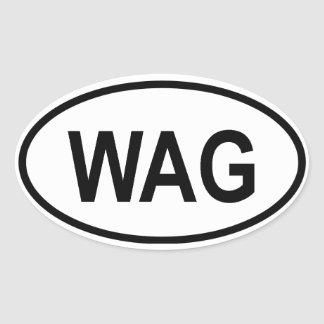 "Gambia ""WAG"" Oval Sticker"