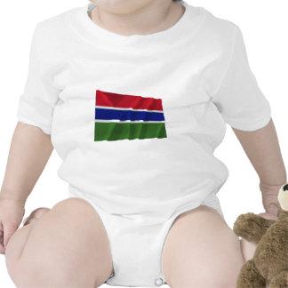 Gambia Waving Flag T-shirts