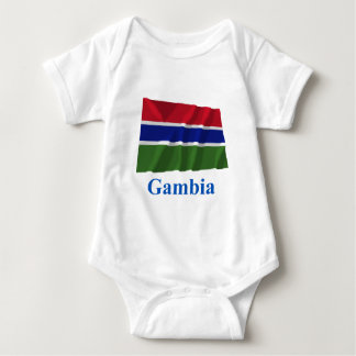 Gambia Waving Flag with Name Shirt