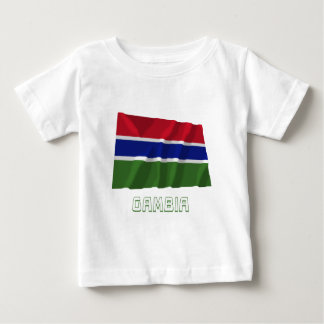 Gambia Waving Flag with Name T Shirt