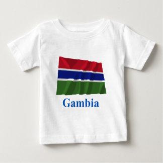 Gambia Waving Flag with Name Tee Shirts