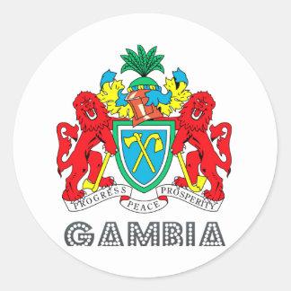 Gambian Emblem Round Sticker