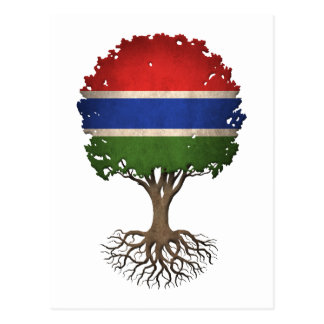 Gambian Flag Tree of Life Customizable Postcard