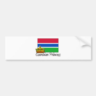 Gambian Princess Bumper Sticker